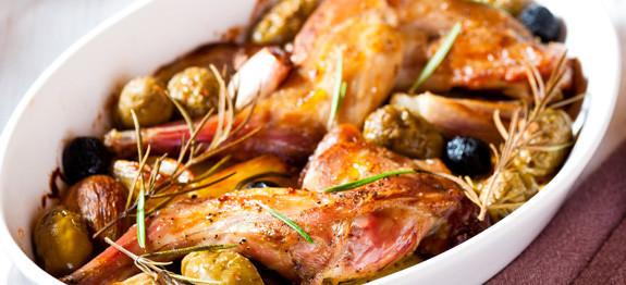 Coniglio olive e rosmarino