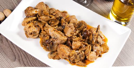 Spezzatino di carne e funghi