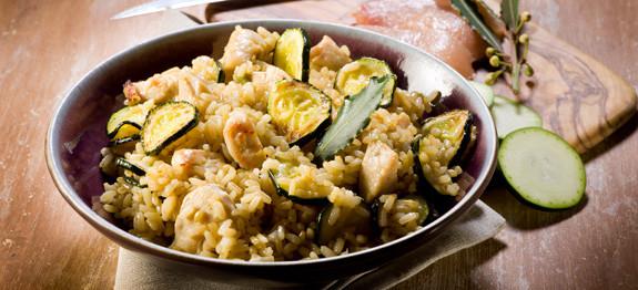 Risotto pollo e zucchine