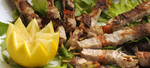 Arrosticini con verdure