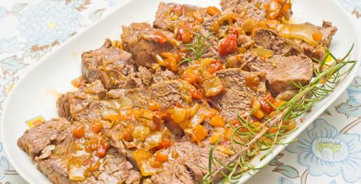 Arrosto di manzo con salsa