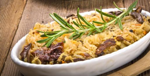 Crauti con carne affumicata