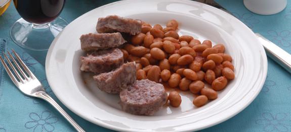 Cotechino di maiale con fagioli