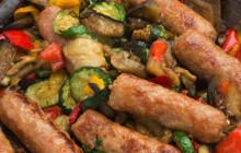 Salsiccia in padella con verdure